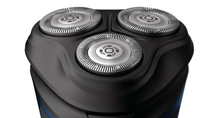 Los cabezales flotantes 3D se mueven para una afeitada cómoda y limpia